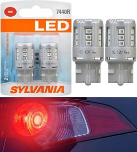 Sylvania Premium LED Light 7440 Red Two Bulbs Front Turn Signal Replacement Lamp