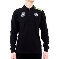 Sergio Tacchini Polo Shirt - New IAH Polo Long Sleeve - Black Yellow Fluo