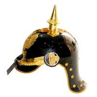 Wwi&ii Deutsche Preußische Pickelhaube Helm Brass Akzente Imperial Offizier Dorn