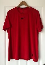 Nike Pro Dri-Fit Fitted Training Shirt Men's Size L Short Sleeve Red 838093