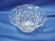 "Vintage Jeanette Cubist Depression Clear Glass Soup Cereal Bowl 6"" by 3"""
