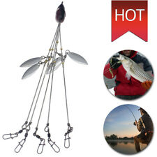Portable 5 Arms 4 Blades Alabama Umbrella Rig Jig Head Fishing Rig Bait Lures Us