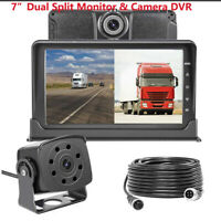 Dash Cam Front and Rear 7'' Monitor Front Lens Recording For Trucks Bus Van RV