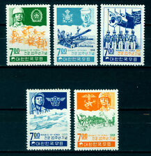 South KOREA 1968 Korean Armed Forces 20th Anniv. Scott# 610-614 mint MLH