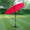 Pink 2.6m Aluminium Parasol with Adjustable Crank & Tilt Garden Patio Outdoor