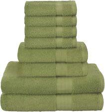 8 Piece Towel Set includes Bath Towel Hand Towel Washcloth Towels