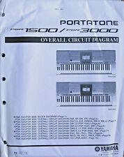 Yamaha PSR-1500 PSR-3000 Tastatur Original Umfassend Circuit Diagram/Schemata