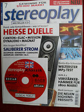 Stereoplay 7/99, ELAC Monde 10, CL 82i, Mission 702e, 750,avm a 2, Levinson 37,360,380