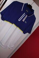 Uomo Lacoste Sport manica corta Polo zip Ultra Dry Taglia L Large