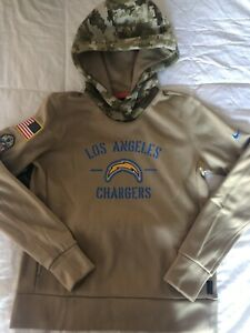 Nike Women's LA Chargers- Salute To Service -On Field Hoodie- Camo- Size Medium