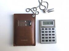 Rare Calculatrice vintage CASIO MICRO CARD WATCH MQ-6
