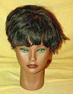MANNEQUIN HEAD CLIC COSMETOLOGY GREEN EYES BROWN HAIR SKIN 2003 PRACTICE HAIR.
