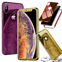 360° Full Body Shockproof Slim Case + Screen Protector For iPhone 7 8 Xs Max X