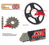 HONDA CB650 F / FA 2014 - 2020 JT X-RING CHAIN AND FRONT / REAR SPROCKET SET