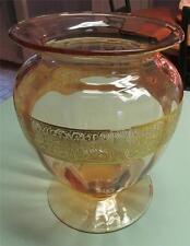 VERY Rare Fostoria Vase Made 1927 Only - Deep Rose Glass # 2369  Elegant Glass!