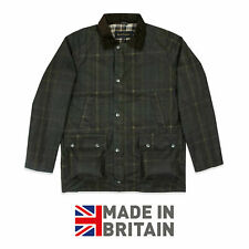 Wax Jacket Coat 100% Waxed Cotton Check Stripe Tartan UNISEX Limited Stock !