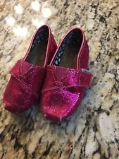 Toms Pink Sparkly Size 5 Toddler Shoes