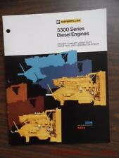 Caterpillar 3300 Series Diesel Engine Generator Power Catalog Brochure 3306 3304