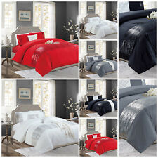 Sequin Duvet Cover Set With Pillow Case Quilt Bedding Throw Set Double King Size