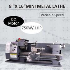 """Automatic 750W 8""""x16"""" Mini Metal Lathe DC Motor Metalworking Milling DC Motor"""