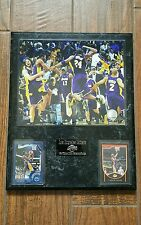 """Los Angeles Lakers 15-Time NBA Champions 12""""x15"""" Plaque. 2009 NBA finals CHAMPS"""