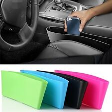 CAR SEAT GAP CATCH CATCHER STORAGE ORGANIZER BOX CADDY POCKET KEY PHONE HOLDER N