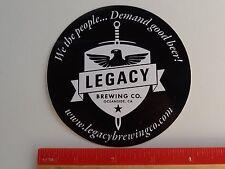 Beer STICKER ~ LEGACY Brewing Co >< Oceanside, CALIFORNIA ~ We Demand Good Beer!