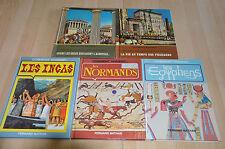 lot 5 livres d'histoire pour enfants : La vie au temps de / comment vivaient...
