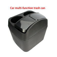 Portable Auto Car Trash Rubbish Can Garbage Dust Case Holder Box Bin Drink Black