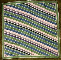 1970's Vera Neumann Scarf w/ Horizontal Stripes (27 x 27)