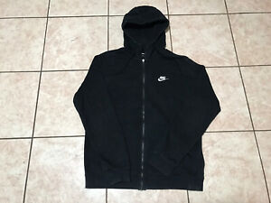 Nike Hoodie Full Zipper Black Sweatshirt Size M Mens