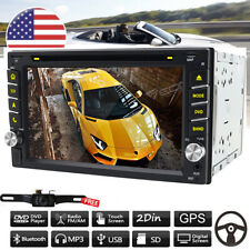 "Windows 6.2"" Double 2Din Car Stereo Radio CD DVD Player GPS  Bluetooth +Camera"