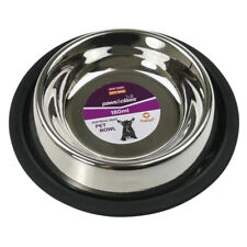 Anti-Skid Stainless Steel Pet Dog Cat Puppy Water Food Feeder Bowl Dish Stand