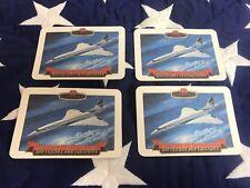 CASTELLA CIGAR BRITISH AVIATION BEER MATS COLLECTORS CARDS x 4 Concorde