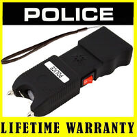 POLICE Stun Gun TW10 78 BV Rechargeable Siren Alarm LED Flashlight + Taser Case