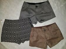 Juniors Shorts Lot XS Size 0  Old Navy Paperbag High Waisted Gray Black Brown