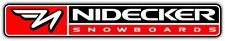 "Nidecker Snowboards Snowboard Car Bumper Window Sticker Decal 8""X1"""