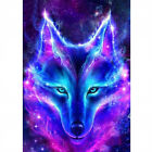 Diamond Painting Round Drill 5D Cool Wolf Head Cross Stitch Souvenir and Mural