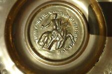 Rare European Church Alms Dish: Medieval, Charger, Knight, Nuremberg, Alms Bowl