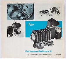 Leitz Wetzlar Focusing Bellows II Sales Brochure Booklet 1960s