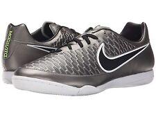 Nike Indoor Soccer Sneakers Metallic Pewter/Black/White  Little Boys Size 10