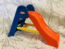 Vintage Little Tikes Plastic Slide Orange Blue Dollhouse Playground