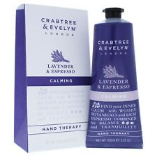 CRABTREE & EVELYN Calming HAND THERAPY 3.45 OZ. Lavender & espresso New