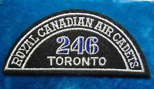 CANADA Royal Canadian Air Cadets TORONTO 246 squadron shoulder flash