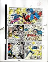 Avengers 301 Marvel color guide art page 18: Captain America/Thor/Fantastic Four