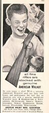 1964 American Walnut Rifle Gun Stocks Rifleman Wood Vintage Hunting Print AD