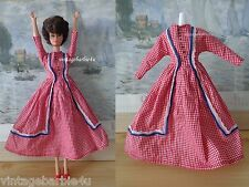 Vintage Dress Patriotic Style White Red & Blue / Barbie Jamie Stacey Doll size