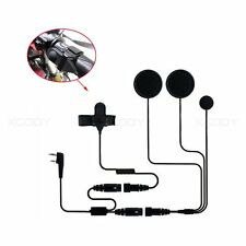 Helmet Motorcycle Race Headset Earpiece 2PIN For Baofeng 5R PUXING PX-777 Radio