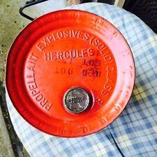 Hercules Red Dot Smokeless Shotgun Powder Metal Tin Can Empty