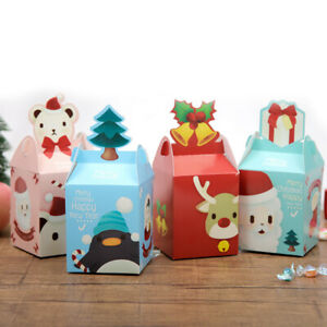 2021 NEW Christmas Apple Party Paper Favour Gift Cupcake Lunch Carrier Boxes
